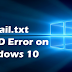 How to Fix SrtTrail.txt Log Error in Windows 10