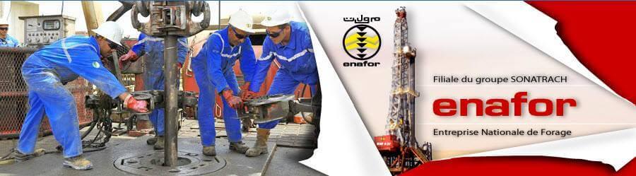 اعلان توظيف بالمؤسسة الوطنية للتنقيب Enafor Group Sonatrach