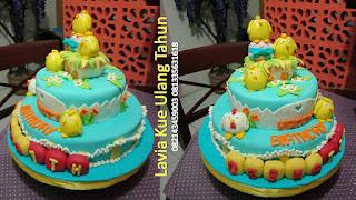 Kue Tart UlTah 2 Susun Hias Chicken Little