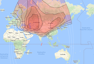 Footprint Satellite Express AM22 80.1°E KU Band