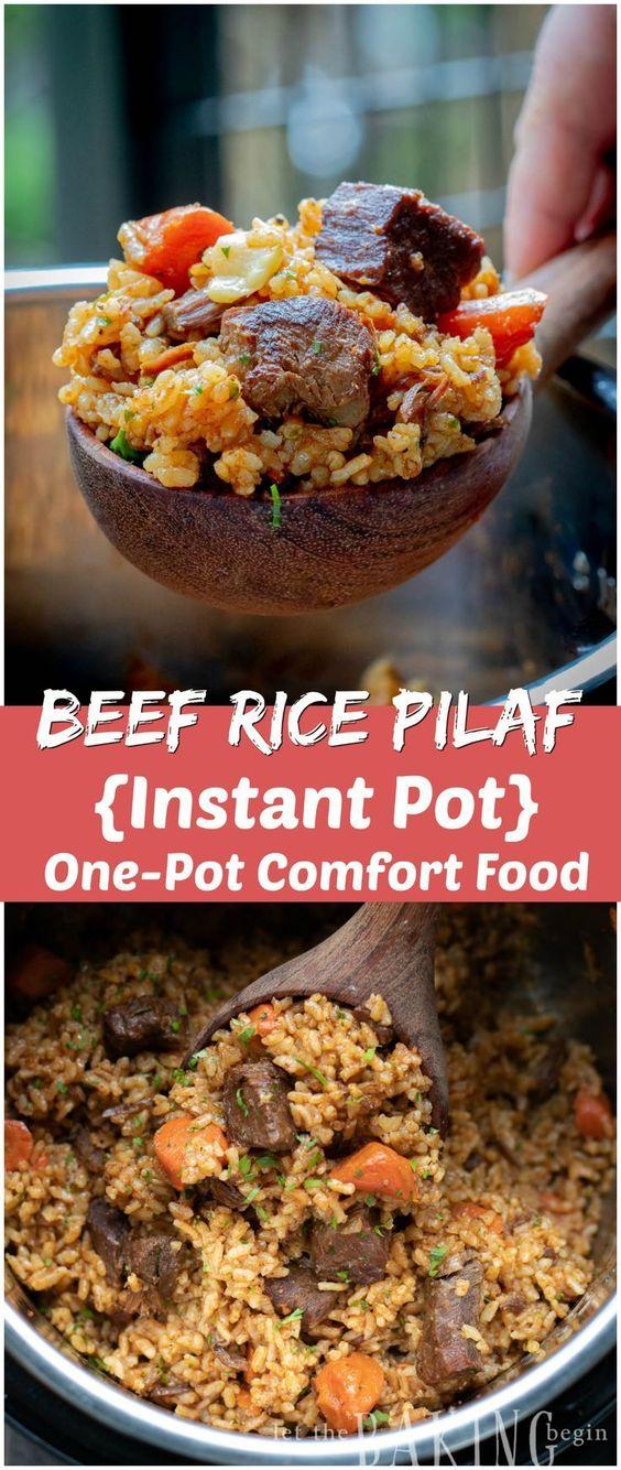 Instant Pot Beef Rice Pilaf