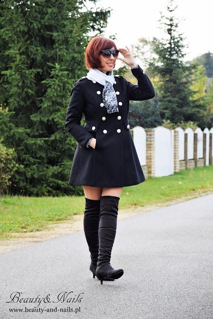 ZAFUL | śliczny, czarny płaszczyk | black coat.