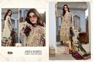 Shree fab Asifa Nabeel lawn Collection pakistani Suits