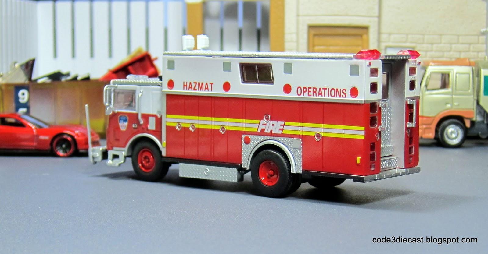 My Code 3 Diecast Fire Truck Collection Mack Hazmat