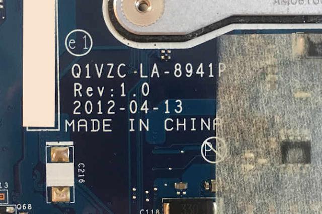 LA-8941P REV 1.0 ACER AO756 Laptop Bios