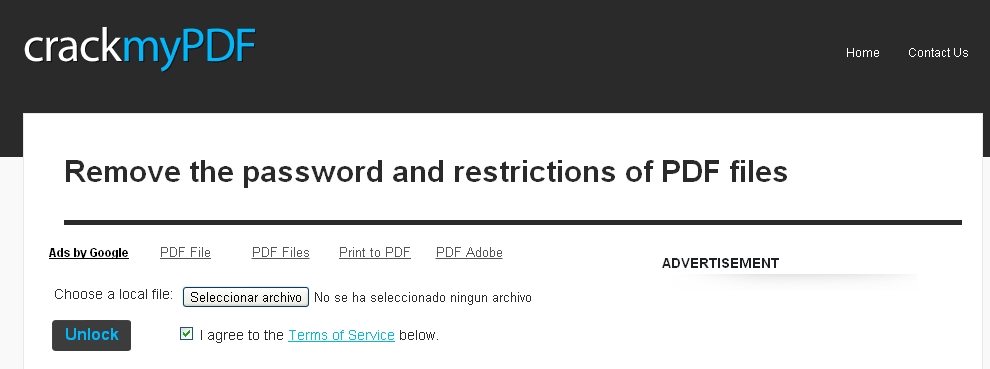 a pdf restrictions remover serial