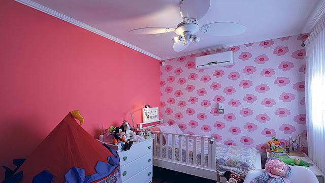 decoración y empapelado habitación infantil niña