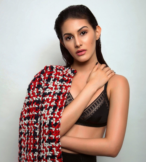 Amyra Dastur Hot & Sexy Photoshoot In Black BRA