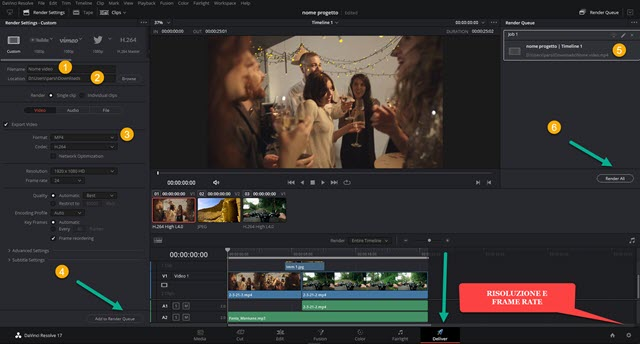 deliver page in davinci resolve