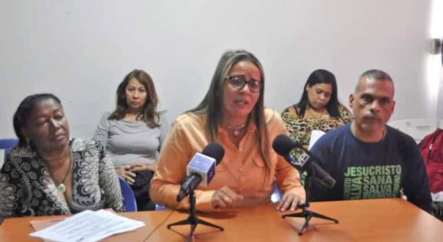 Griselda Sánchez, representante del Sindicato Nacional de Maestros