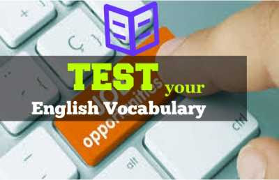 Test Your Vocabulary