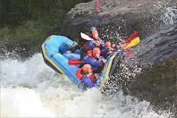 raft carnage, upper gauley, chris baer, WhereIsBaer.com, pillow rock, upper, whitewater rafting