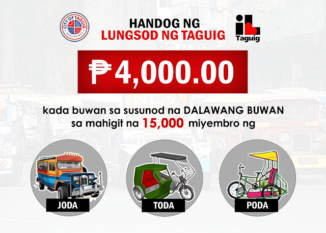 Taguig to give P4,000 aid for PUV drivers during quarantine period