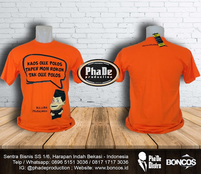 KAOS BEACUKAI PROBOLINGGO WARNA ORANGE