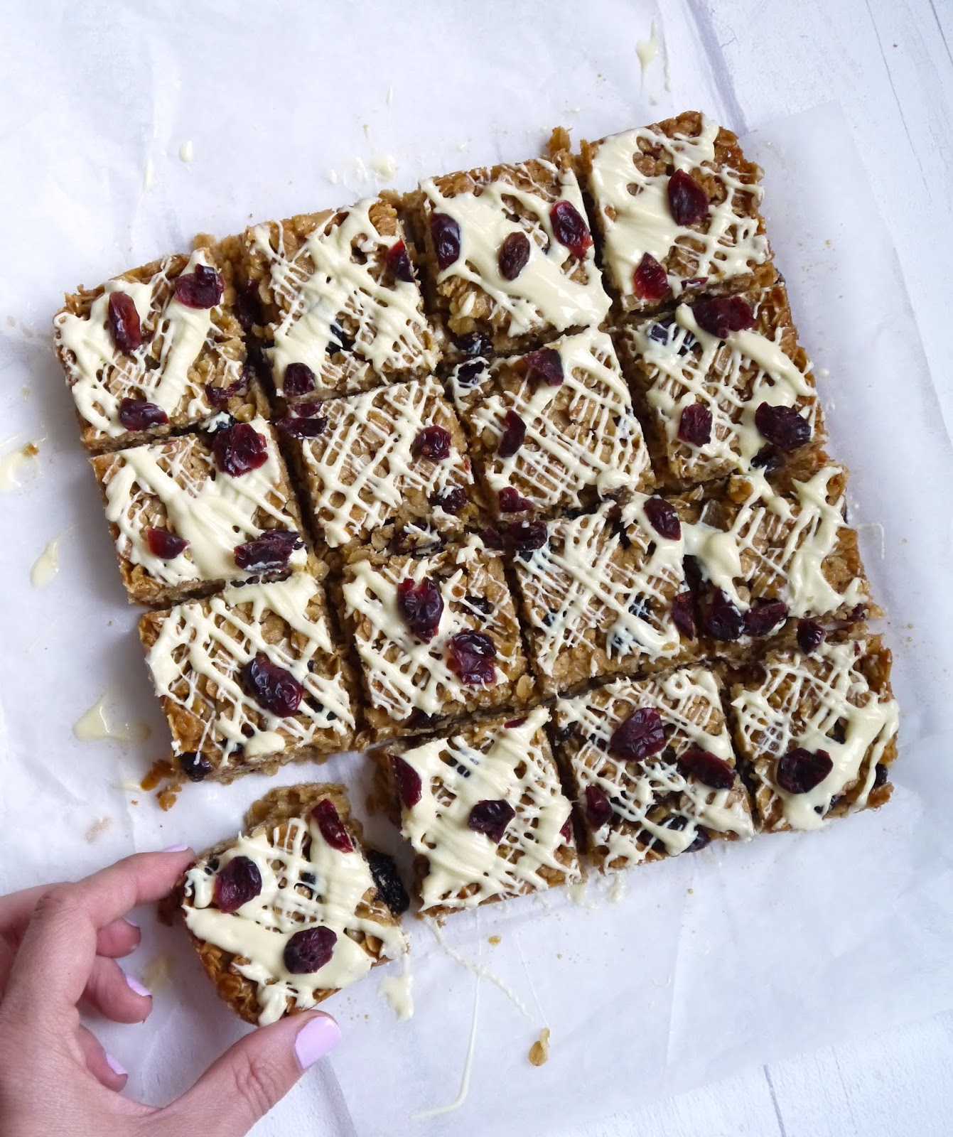 The Best White Chocolate and Cranberry Flapjack Recipe The Betty Stamp
