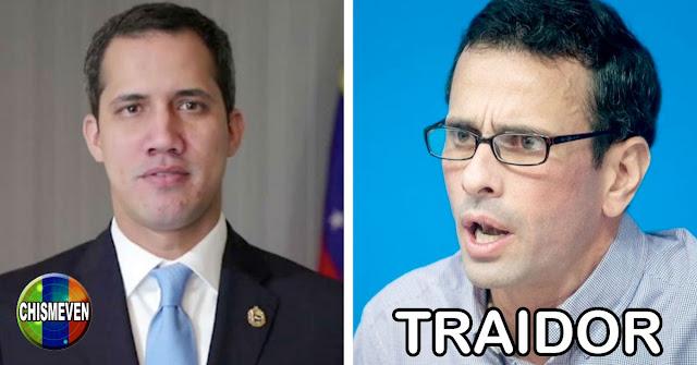 Juan Guaidó desuniendo a la oposición denuncia a Capriles y a Stalin como traidores