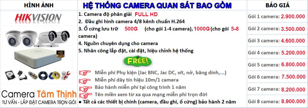 báo giá lắp đặt camera quan sát