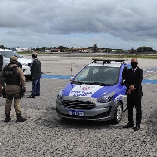 PM escolta Ministros da república durante deslocamento em Porto Seguro