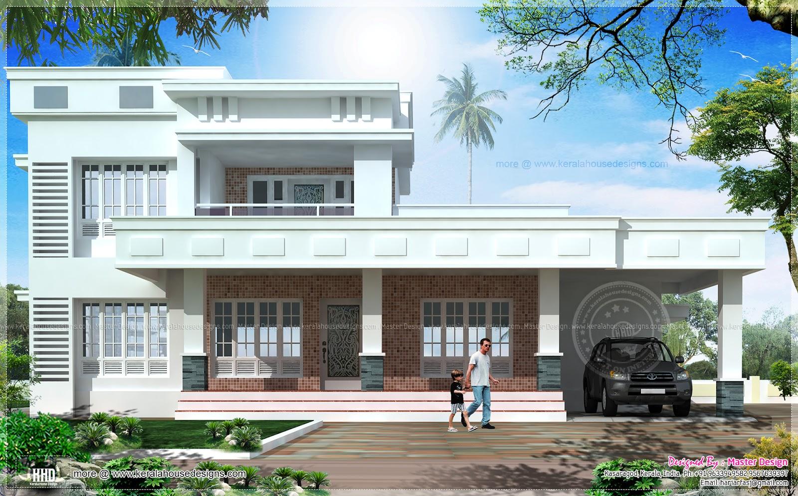 Box model East face vastu house design - Kerala home ...