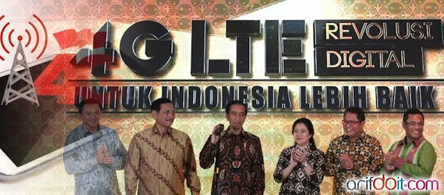 peresmian jaringan 4G LTE 1800MHz oleh Presiden RI Jokowi