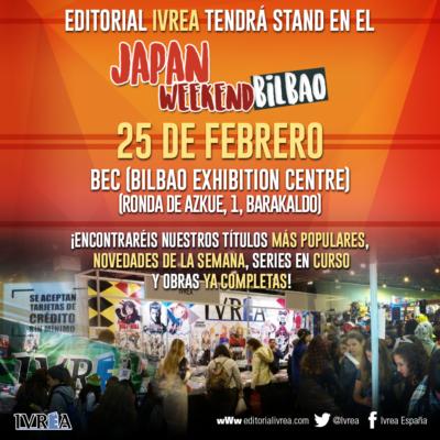 "Editorial IVRÉA tendrá stand en el ""V Japan Weekend de Bilbao""."