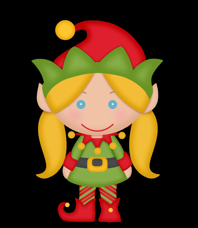 Elves Of The Helping Santa Clip Art