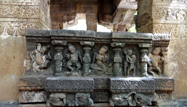 The ruined sculptures of Mahakuta Temple Complex