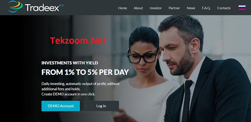 [SCAM] [Tradeex.Pro][03/10/2016] HYIP - PAY - Lãi trung bình 1.78% hằng ngày cho 365 ngày - Min Dep 10$ - Min Pay 1$ - Thanh toán Instant