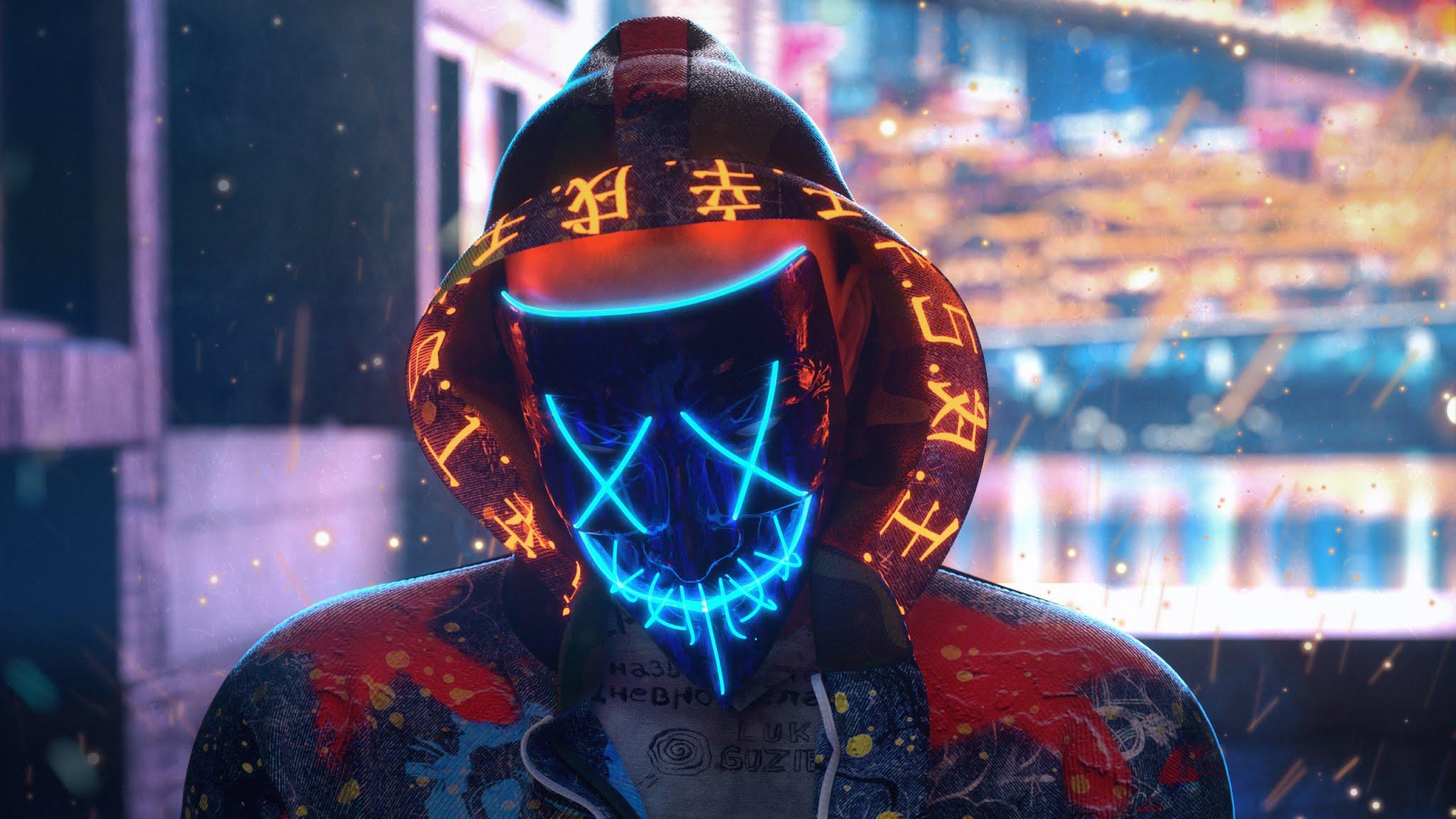 Mask Neon Guy Chakra Wallpaper