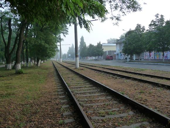 Авдіївка. Трамвайна колія без трамвая