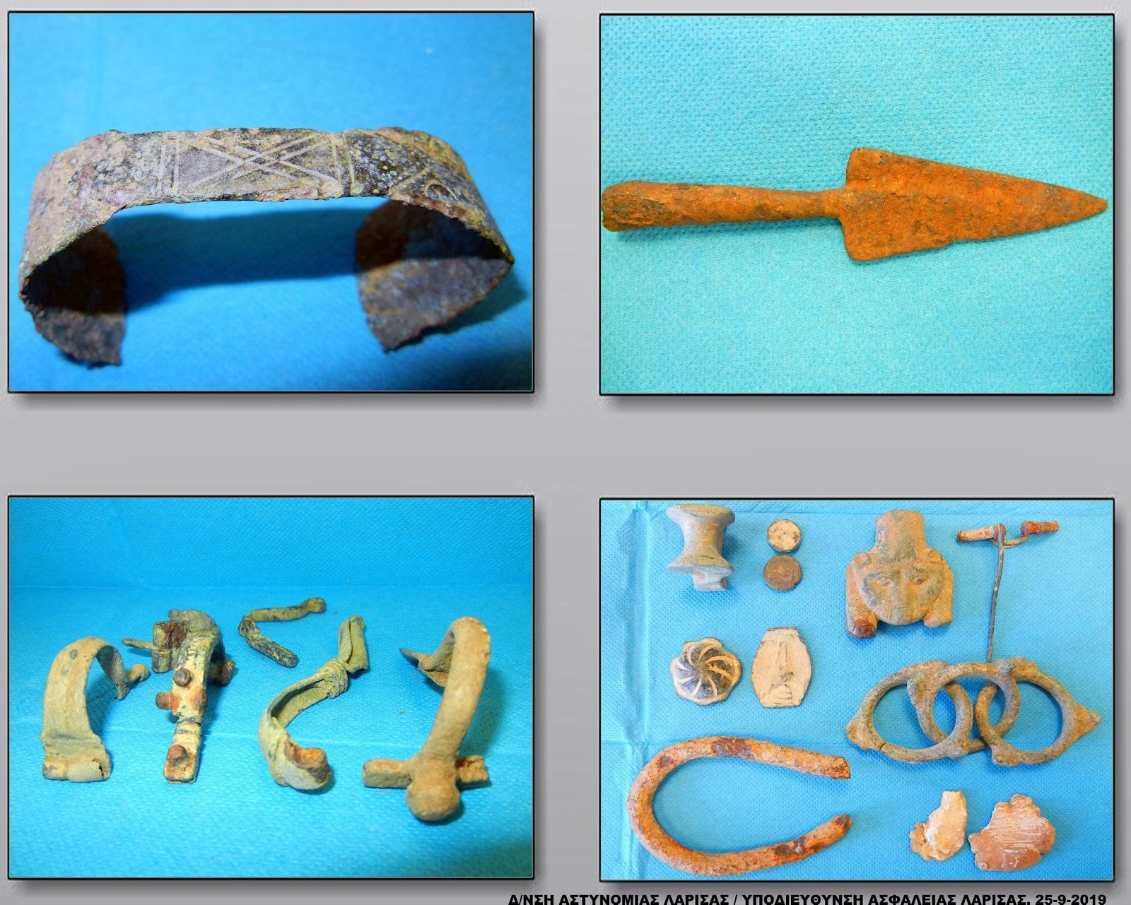 Δύο ακόμα νέες συλλήψεις για το κύκλωμα αρχαιοκάπηλων στη Θεσσαλία