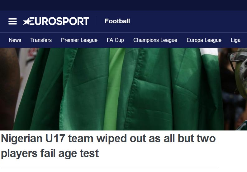 See what oyibo people are saying about 60 Nigerian U17 players failing age test