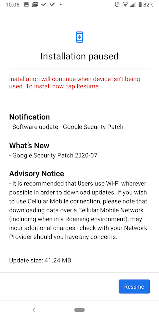 Nokia 7 Plus receiving July 2020 Android Security patch