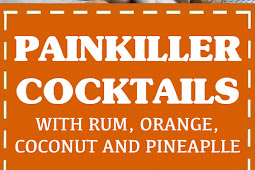 Painkiller Cocktails With Rum, Orange, Coconut, And Pineapple