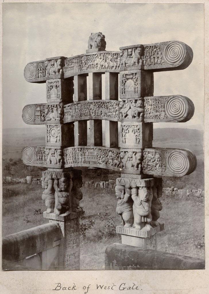 Sanchi Stupa back of west gate