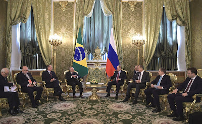 Vladimir Putin and President of Brazil in Moscow.