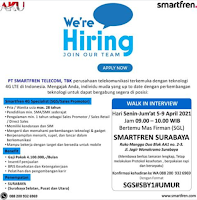 Walk In Interview at PT. Smartfren Telecom, Tbk Surabaya April 2021