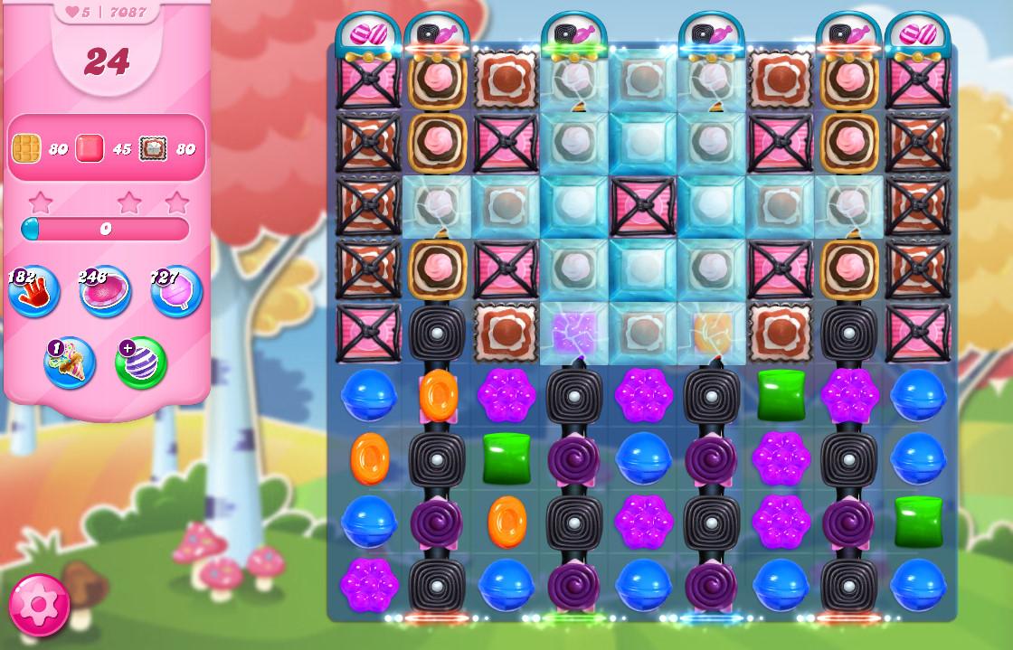 Candy Crush Saga level 7087