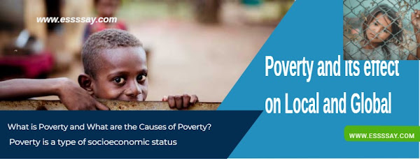 Essay on Poverty and its effect on Local and Global