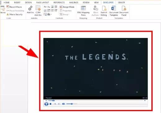 Cara Memasukkan Video ke Microsoft Word-11