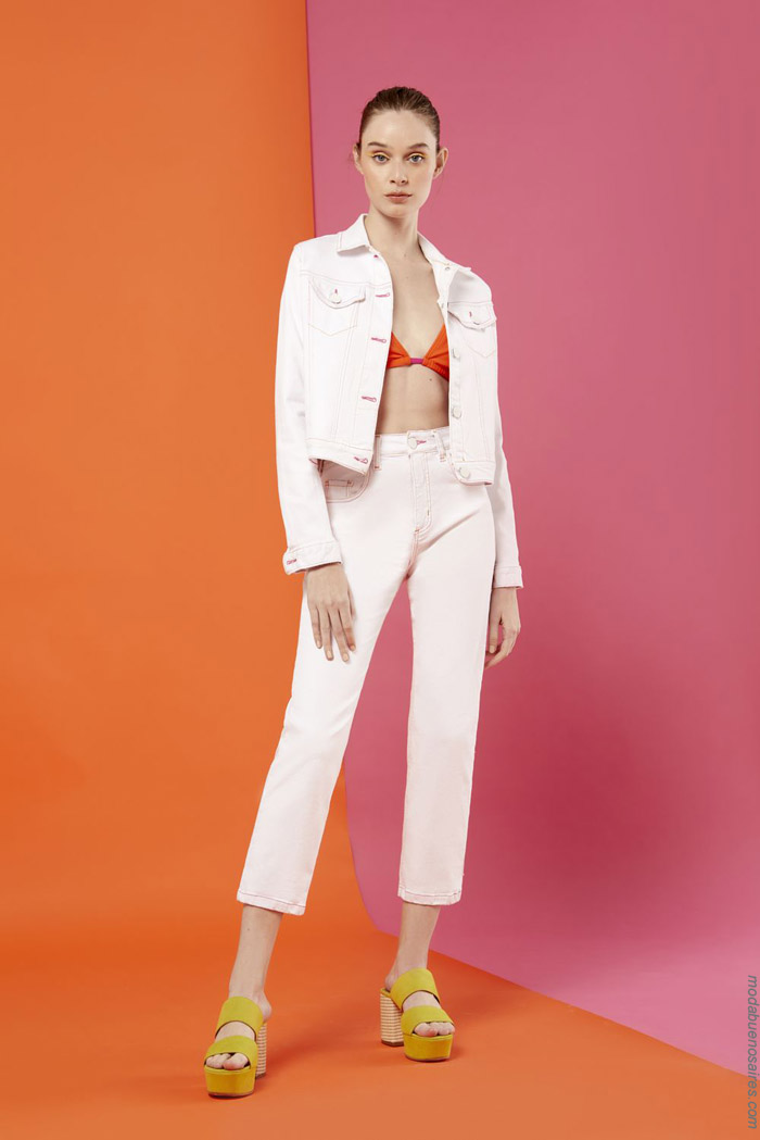 Pantalones de jeans primavera verano 2020 moda mujer.