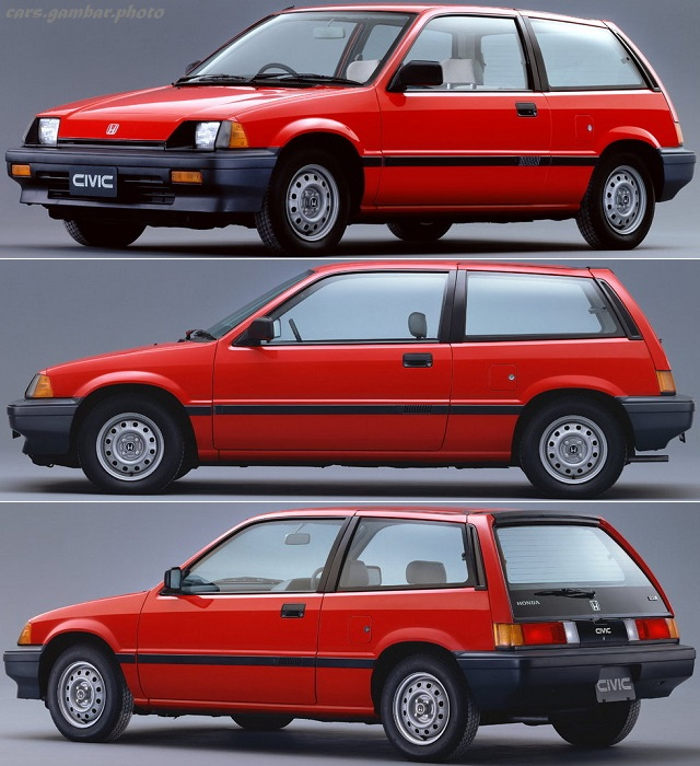 Honda Civic Third Generation Hatchback prefacelift - Red