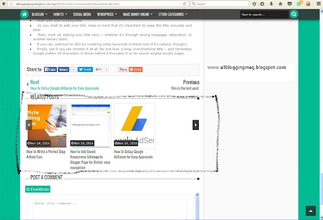 How To Show Related Posts/Articles in Blogger