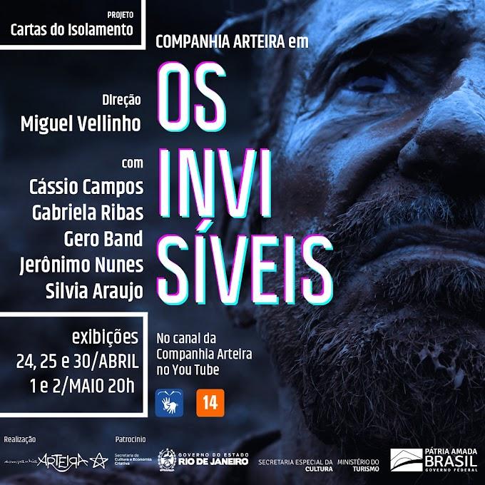 """Vídeo documentário """"Os invisíveis"""", da Companhia Arteira, estreia no sábado, 24 de abril"""