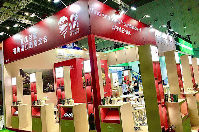 Vinos armenios en China International Import Expo 2019