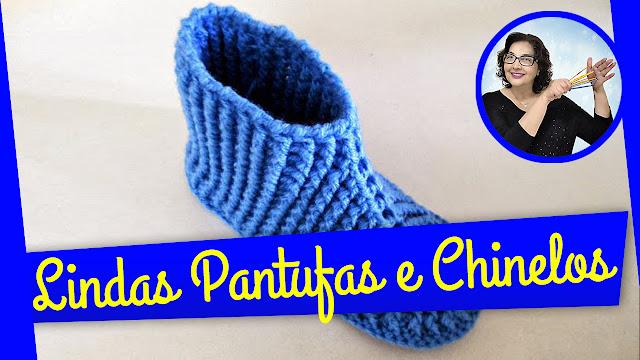 Edinir Croche ensina Pantufas em Crochê - passo a passo do jeito certo para destros e canhotos