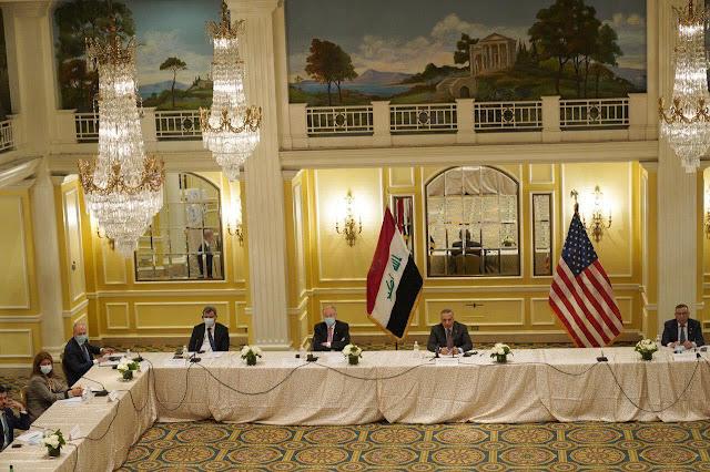 الكاظمي يلتقي في واشنطن أعضاء منتدى رجال الأعمال وغرفة التجارة الأمريكية