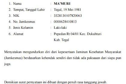 Contoh Surat Pernyataan Jaminan Detil Gambar Online
