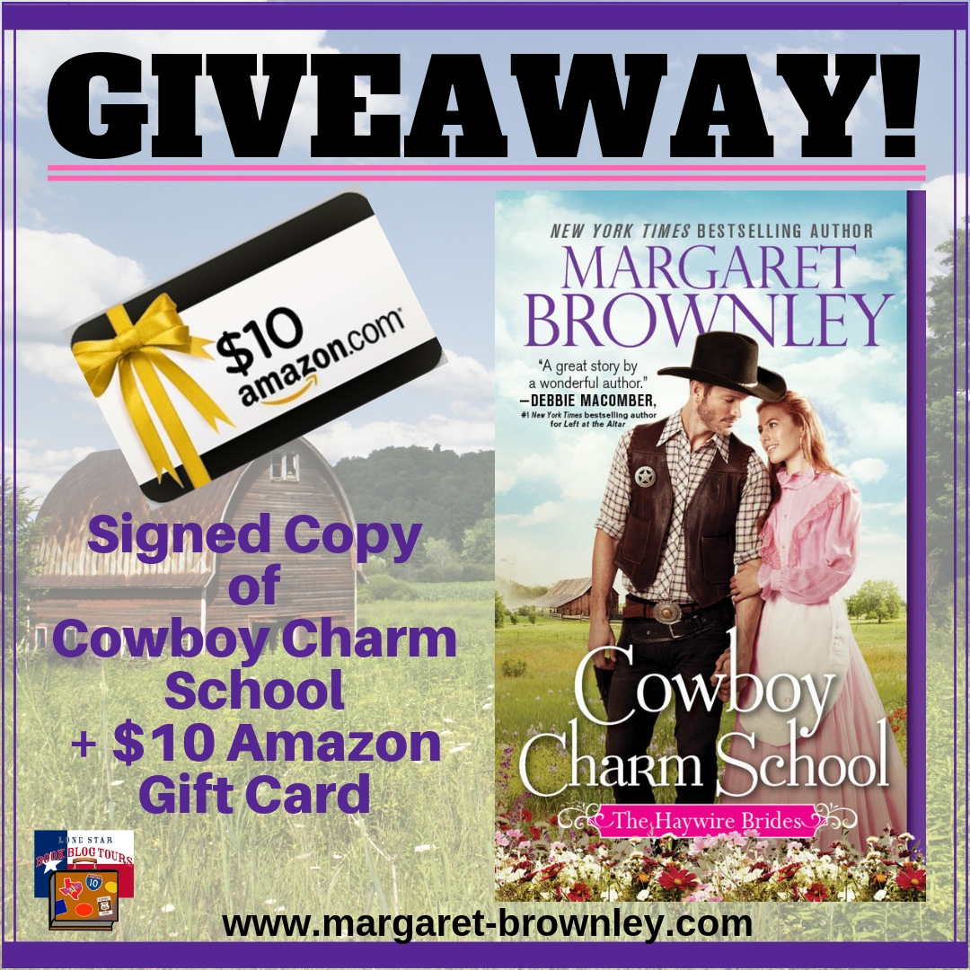 Cowboy Charm School giveaway graphic