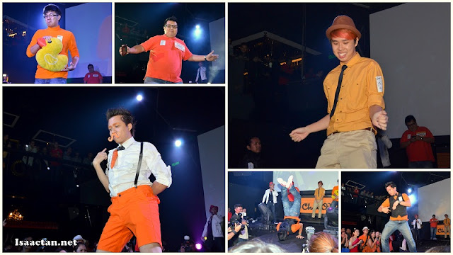 The best dressed male contestants doing their moves